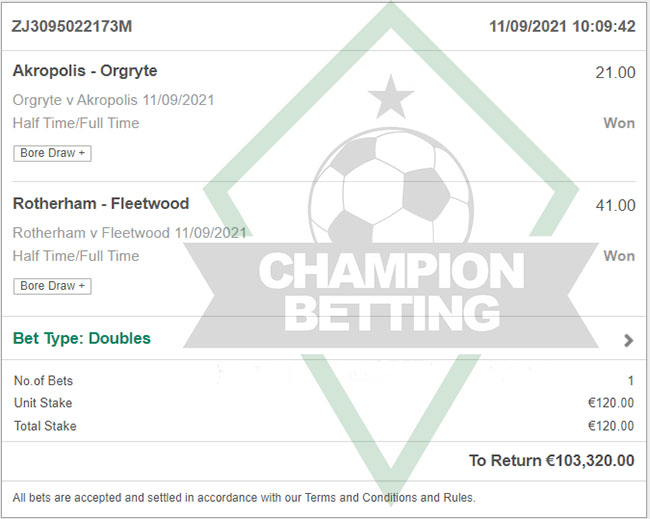 Champion Fixed Bets Today